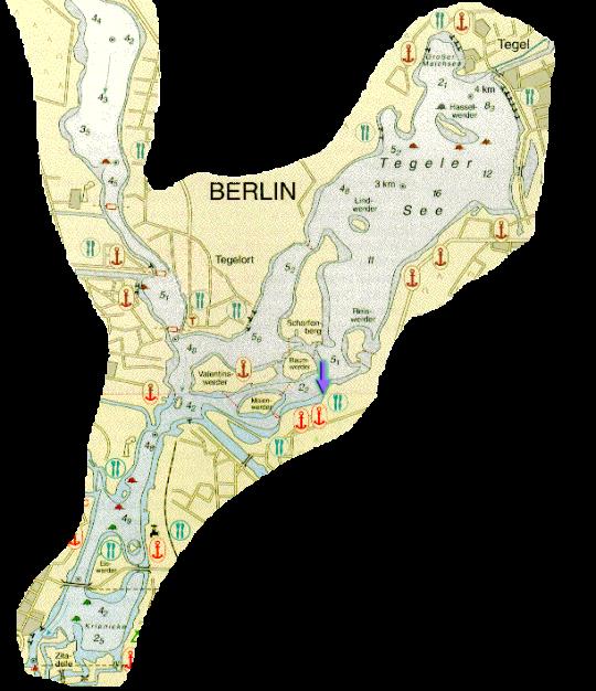 Lageplan Blumeshof, Bootslagerung Tegeler See, Lageplan Tegeler See